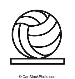 conception, volley-ball, illustration, icône