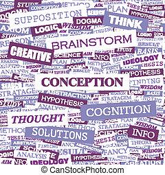 CONCEPTION. Word cloud concept illustration. Wordcloud ...