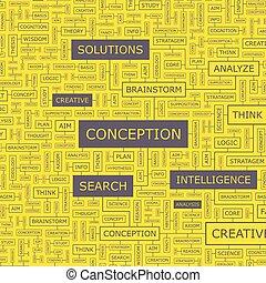 CONCEPTION. Word cloud illustration. Tag cloud concept ...