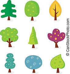 conceptions, arbre, retro