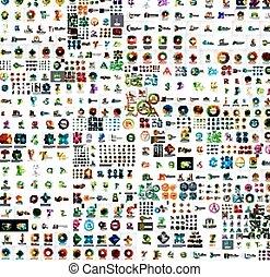 conceptions, mega, compagnie, collection, logo, résumé
