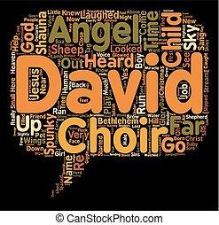 concepto, ángel, texto, wordcloud, plano de fondo, niño