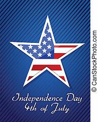 concepto, 4, norteamericano, julio, día, independencia