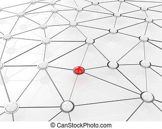concepto abstracto, conexión, red