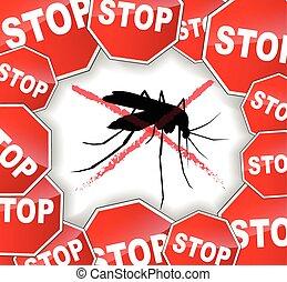 concepto abstracto, parada, mosquitos