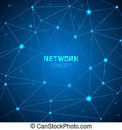concepto abstracto, tecnología, red