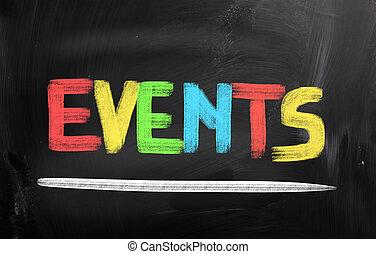 concepto, acontecimientos