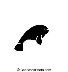 concepto, aislado, ilustración, señal, fondo., vector, negro...