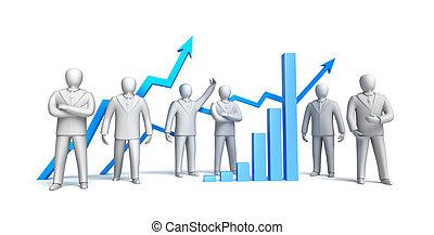 concepto, aislado, mercado, acción
