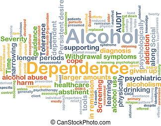concepto, alcohol, plano de fondo, dependencia