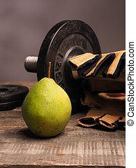 concepto, alimento, deportes, salud, condición física, fresco, cuidado