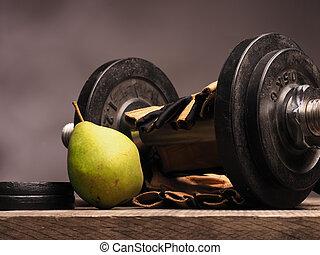 concepto, alimento, deportes, salud, fresco, cuidado