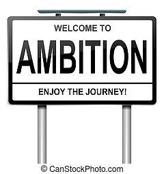 concepto, ambición