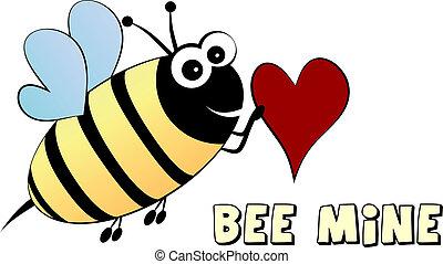 concepto, amor, abeja, mine-