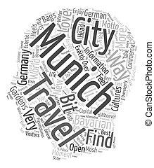concepto, amor, dich, texto, viaje, él, munich, voluntad, wordcloud, munchen, plano de fondo, usted, liebt