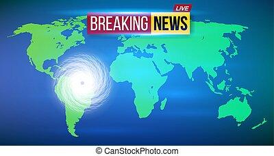 concepto, arte, resumen, tornado., aislado, diseño, huracán, espiral, creativo, tropical, fondo., tormenta, ciclón, viento, ilustración, tifón, vuelta, transparente, gráfico, elemento, realista, vórtice, vector