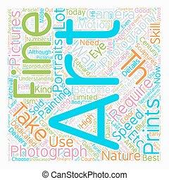 concepto, arte, texto, fotografía, wordcloud, plano de...
