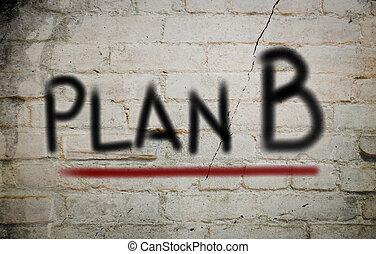 concepto, b, plan