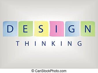 concepto, basado, título, pensamiento, solución, diseño