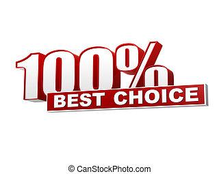 concepto, cartas, bandera, empresa / negocio, porcentajes, texto, opción, mejor, 100, bloque, rojo blanco, 3d