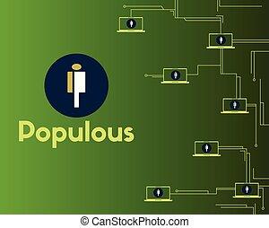 concepto, circuito, blockchain, cryptocurrency, plano de ...