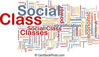 concepto, clase, plano de fondo, social