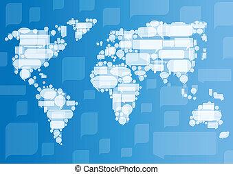 concepto, comunicación del negocio, globalización, vector,...
