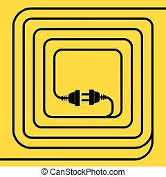 concepto, conexión, desconexión, electricity.