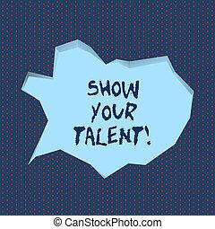 concepto, conocimiento, exposición, habilidades, texto, talent., significado, habilidades, demonstratingal, demostrar, escritura, escritura, su, aptitudes.