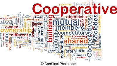concepto, cooperativo, plano de fondo