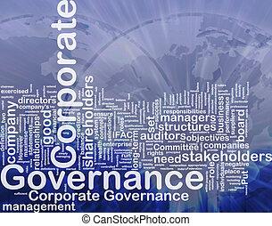 concepto, corporativo, gobierno, plano de fondo