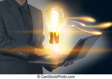 concepto, creativo, estrategia de la corporación mercantil