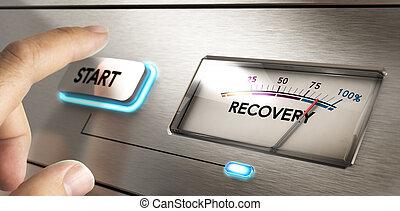 concepto, crisis, recuperación