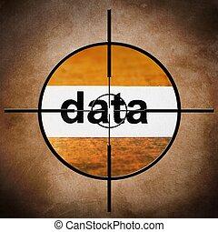 concepto, datos, blanco