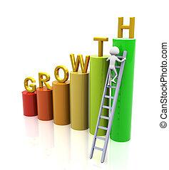 concepto, de, crecimiento