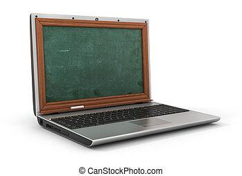 concepto, de, en línea, estudiar, o, webinar., vacío,...