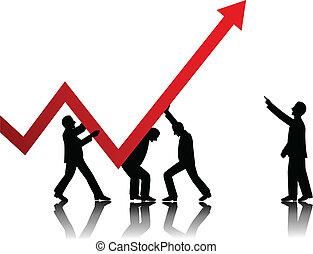 concepto de la corporación mercantil, vector
