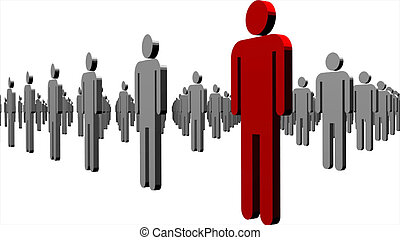 concepto, de, liderazgo, en, empresa / negocio