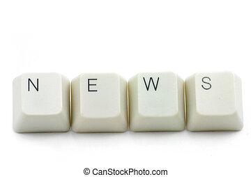 concepto, de, noticias en línea, medios