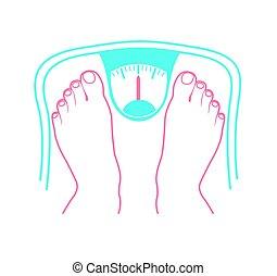 concepto, de, sobrepeso