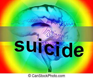 concepto, de, suicidio, plano de fondo