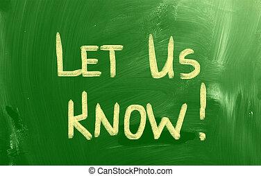concepto, dejar, saber, nosotros