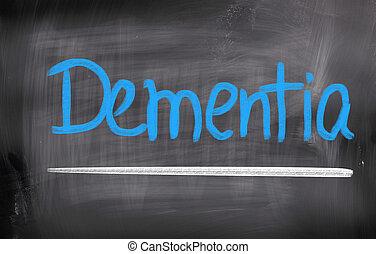 concepto, demencia