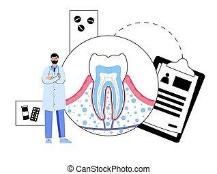 concepto, dental, clínica