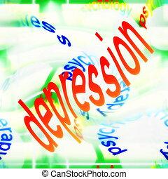 concepto, depresión