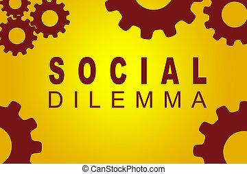 concepto, dilema, social