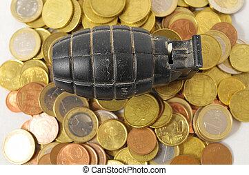 concepto, dinero, guerra