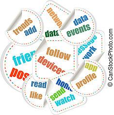 concepto, discurso, nube, ilustración, de, social, individuo, política
