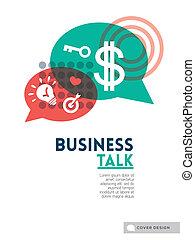 concepto, disposición, empresa / negocio, cartel, cubierta, discurso, Plano de fondo, folleto, diseño, burbuja, charla