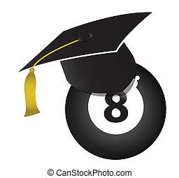 concepto, educación, billar